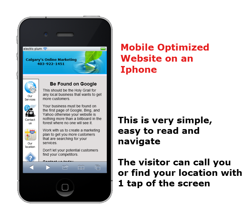Mobile website in Calgary